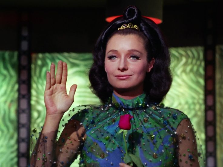 I love the sheer sleeves and rhinestones! Star Trek TOS. Ambassador Miranda.