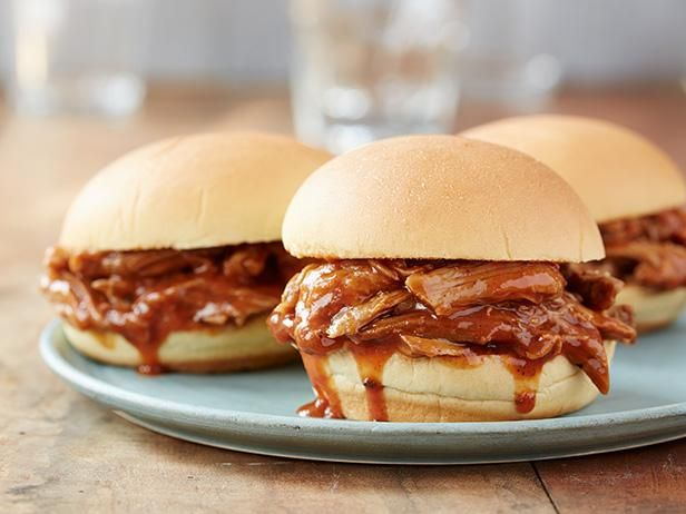 Easy Slow-Cooker Recipes: Trisha's Slow-Cooker Georgia Pulled Pork Barbecue  Find more simple, comforting slow-cooker recipes for soups, stews and tender meats from Food Network. #SlowCooker #ComfortFood