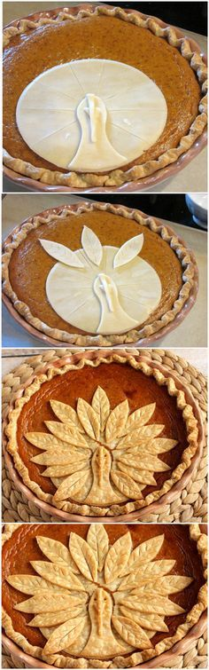 Adorable Turkey Crust Pumpkin Pie
