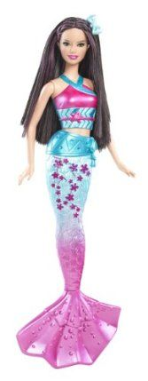Barbie In a Mermaid Tale 2 Mermaid Asia Doll by Mattel. $27.25. Collect all of the Mermaid Tale 2 Mermaids. Beautifully detailed bodice and mermaid tail. Based on the Barbie's newest animated movie, Barbie in A Mermaid Tale 2. Girls can have fun acting out scenes from the movie. Color changing features with cold water activation. From the Manufacturer                Barbie in a Mermaid Tale 2 Mermaid Collection: In the movie Barbie in A Mermaid Tale 2, these magical Royal M...