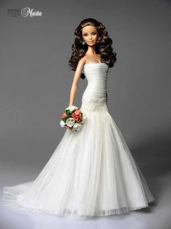 barbie wedding dress op pinterest modepoppen barbie en vintage