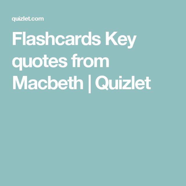 1000+ Macbeth Quotes On Pinterest