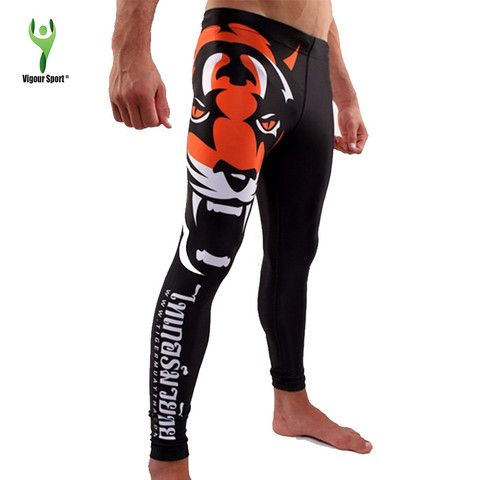 Tiger Print MMA Compression Pants