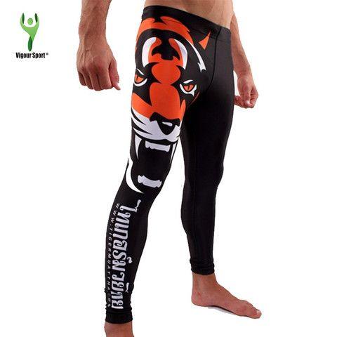 Tiger Print MMA Compression Pants