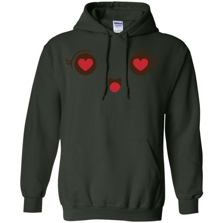 Heart Eyes Face Emoji 1 G185 Gildan Pullover Hoodie 8 oz.