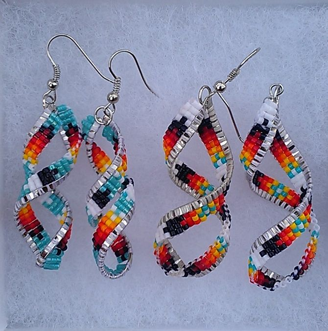 Delica Twist Earrings-what do you think about these? you would look so cute in these!