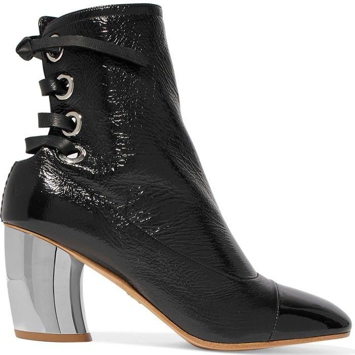 Proenza Schouler Designer Shoes, Taupe Leather Mirror Heel Boots