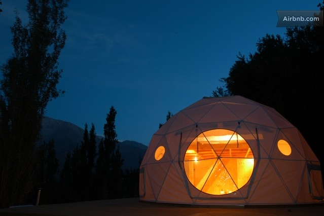 "Gaze at the stars in ElquiDomos Astronomic Hotel in Chile. The geodesic domes are furnished and all services in this unique camping ground are focused on ""sky wealth."" Twinkle... twinkle..."