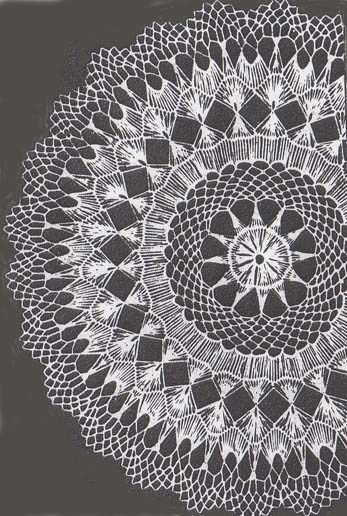 Hairpin Lace Doily Alice Brooks