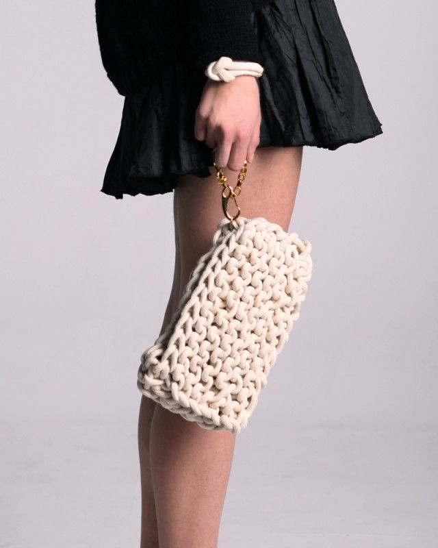Knitted Cotton Clutch