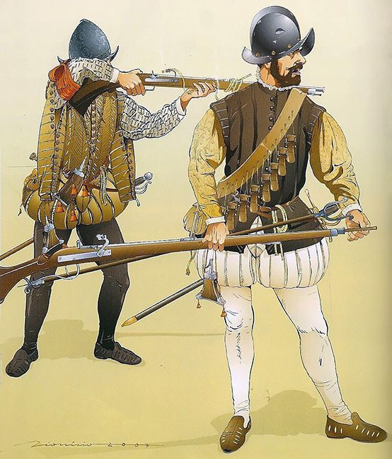 Arquebusier and Musketeer