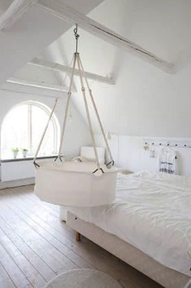 Plain White Sheets To Accent The White Cradle. A Simple Way To Keep Your  Little