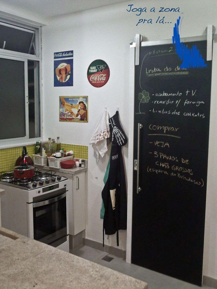 porta de correr para cozinha com lousa - Google Search