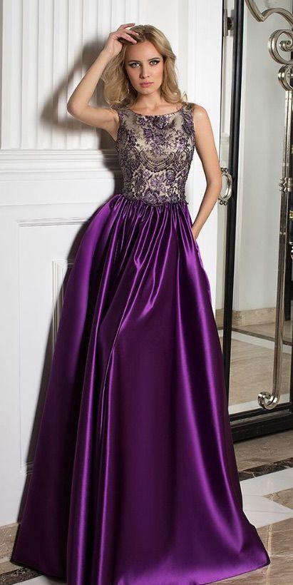 Courtesy of Oksana Mukha; Purple wedding dress idea; www.oksana-mukha.com