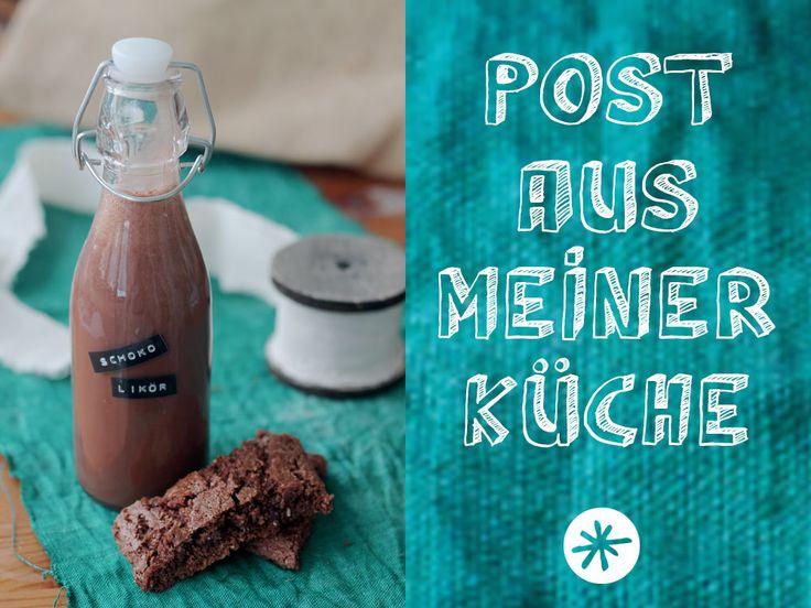 Schokoladenlikör für Post aus meiner Küche - heute gibt es das Rezept für die Knuspern unterm Weihnachtsbaum Runde!