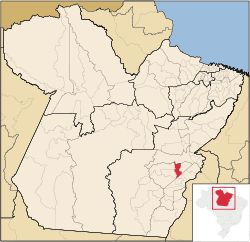 Localização do município de Curionópolis, no Pará, onde fica Serra Pelada. 29/01/2014.