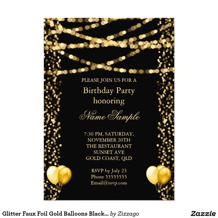 Best Adult Birthday Invitations Images On Pinterest - Birthday invitation gold coast