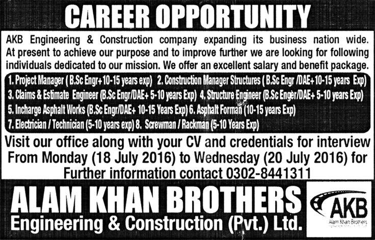Jobs in Construction Company