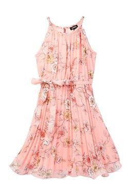 Pleated Flounce Dress (Little Girls)