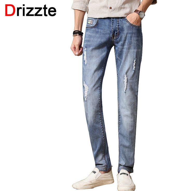 Men Designer Stretch Denim Jeans for Men Slim Jean Pants Trousers Man