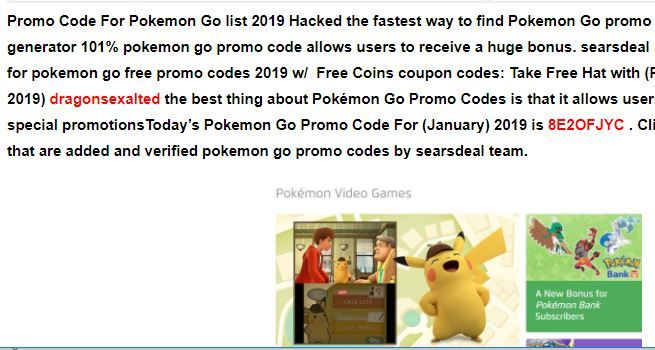 Pokemon Go Promo Codes *LIST*2019 ( AUGUST '19) HACK   Best
