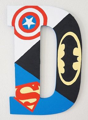 Hand Drawn and Hand Painted Batman Captain by PersonalizeMeDesigns, $24.00