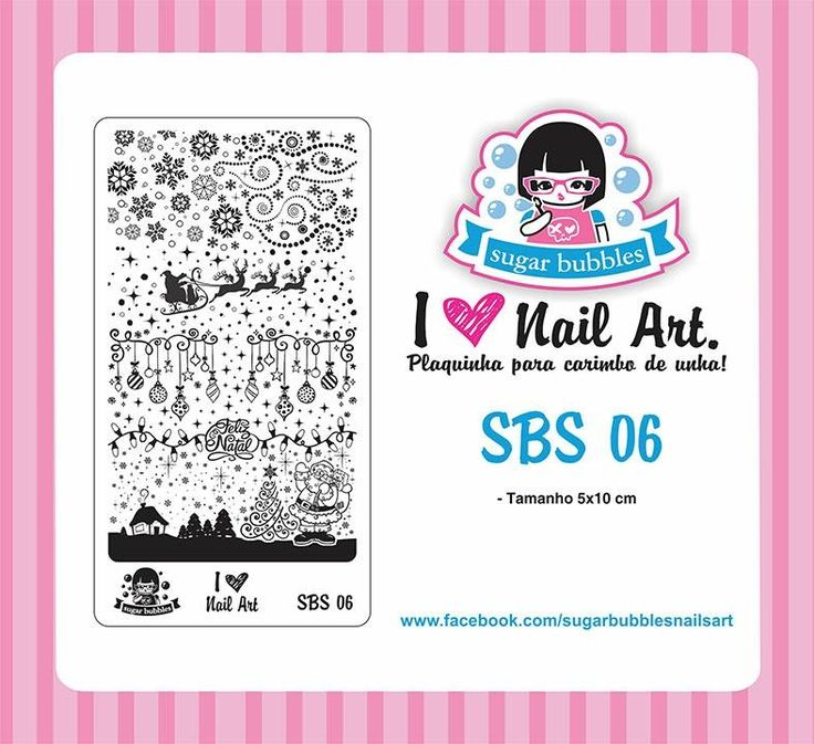 Small Nail Art Stamping Plate Sugar Bubbles SBS 06