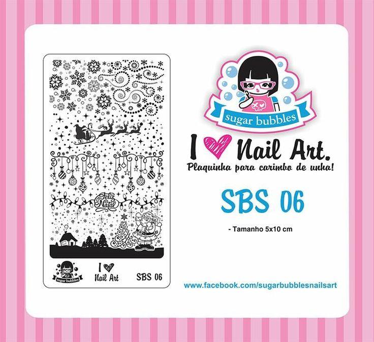 Small Nail Art Stamping Plate Sugar Bubbles SBS 06