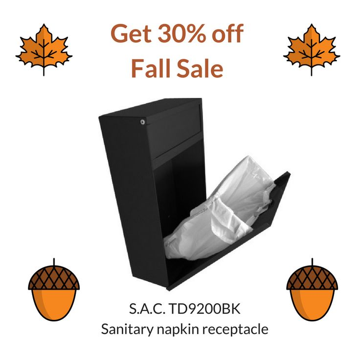 Get 30% off of the TD9200BK black, steel #surface #mount #Sanitary #Napkin #Receptacle  with our Fall sale on Amazon https://www.amazon.com/dp/B01IE1JYSK Don;t forget you get free shipping with Prime too!