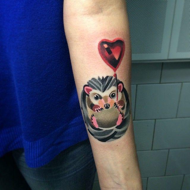 25+ Best Ideas About Hedgehog Tattoo On Pinterest