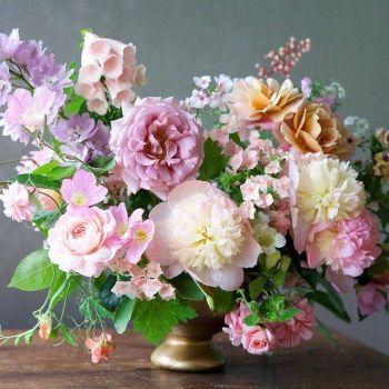 arrangement flowers from the garden (100 pieces)