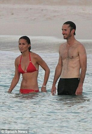 +27 Pippa cools off in the sea +27  Pippa and the family have been staying at the Eden Rock resort on the island, which is owned by the family of her former boyfriend James Matthews