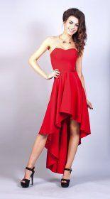Asymetryczna sukienka w kolorze czerwonym Model:TM-1745