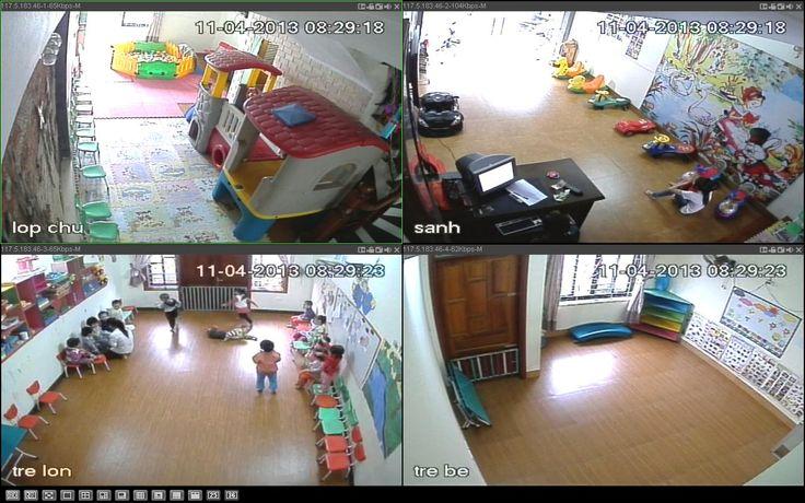 giải pháp an ninh giáo dục - trường học - trường mầm non, lắp đặt camera quan sát