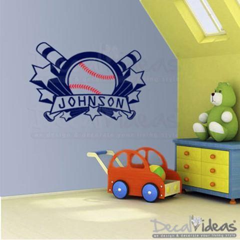 Best Flourish Home Décor Images On Pinterest Handmade Baby - Vinyl wall decals baseball