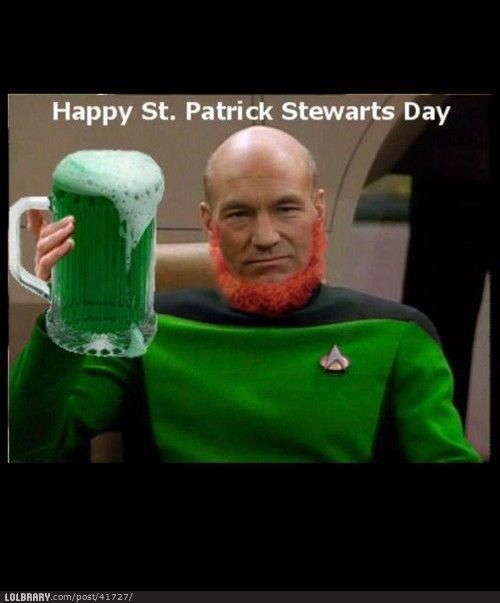 Funny Memes For St Patricks Day : Best images about patrick stewart is my boyfriend