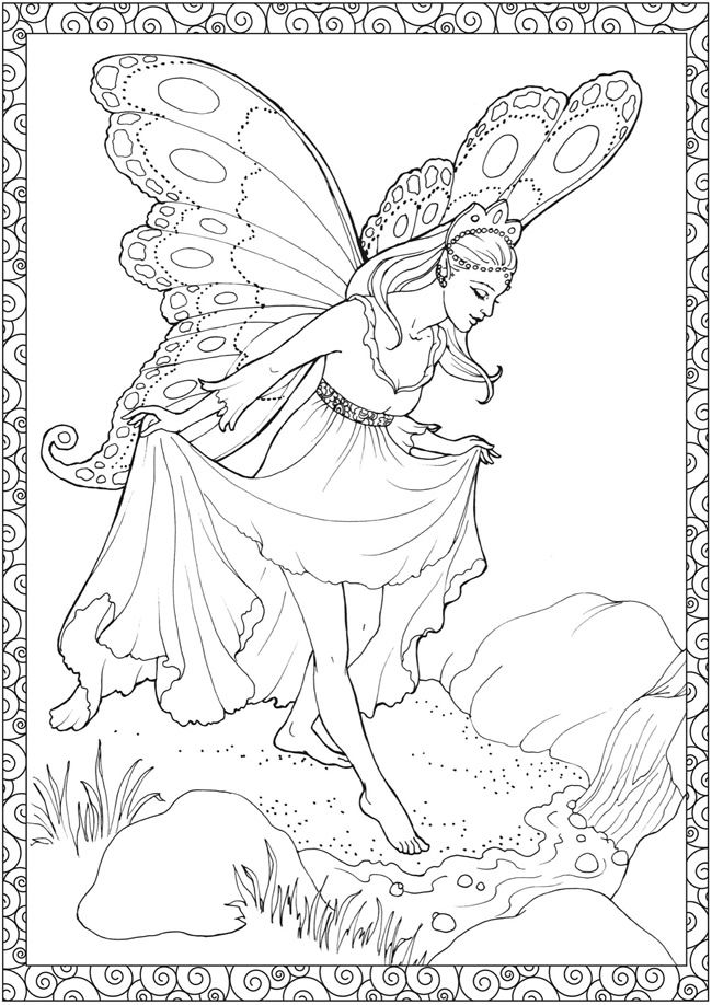 print on coloring for adults fairy coloring pages. amazoncom ...