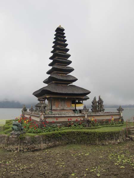 Late Bratan temple near Bedugul