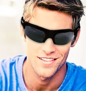 This guy is looking cool and sporty with his High Performance HD720P Video Recording Sunglasses. Perfect for hands-free recording. www.Tech-Gadgets.com