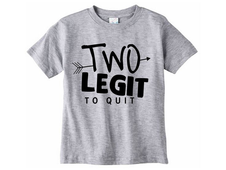 Two legit to quit shirt // Second birthday - Two year old birthday tshirt - Two year old shirt - 2 year old - Graphic tee by SkeleteePrinting on Etsy
