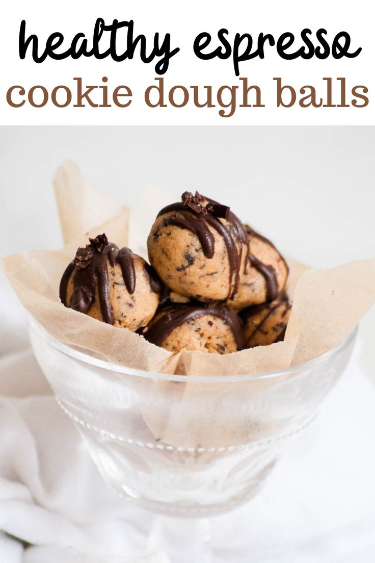 Healthy Espresso Cookie Dough is full of rich, creamy cookie dough flavor. This no-bake vegan recipe uses seven ingredie…