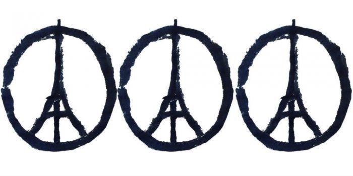 Dit is de illustrator achter het Eiffeltoren vredesteken
