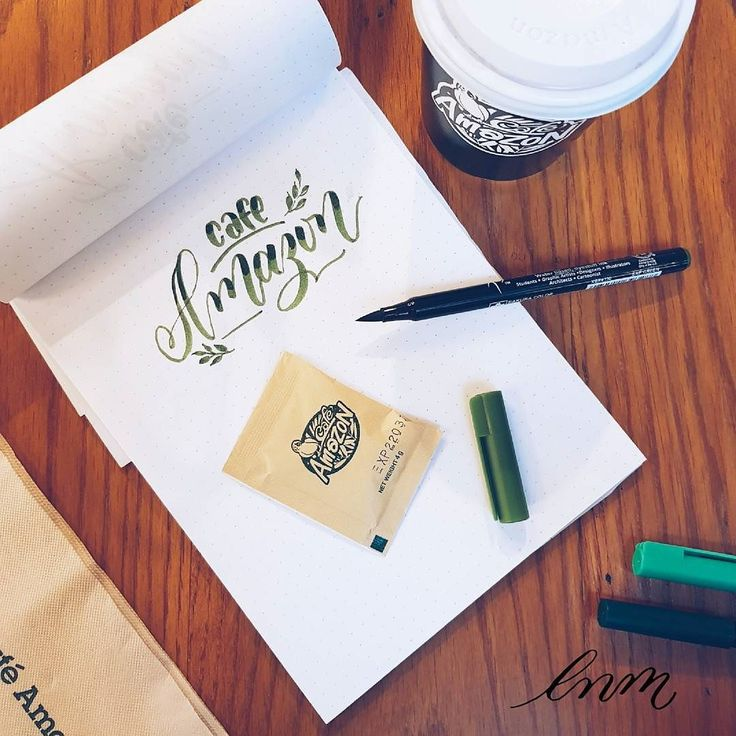 This cute franchise of local chain coffee in Thailand It is so affordable and good that it's practically my second home.  Comfortable yet simple the service is decent the employees are sweet never had any trouble.. I barely ever go to Starbucks anymore. . . . #coffee #amazoncoffee #flatlay #handlettering #brushlettering #brushcalligraphy #lettering #artoftype #goodtype #dailytype