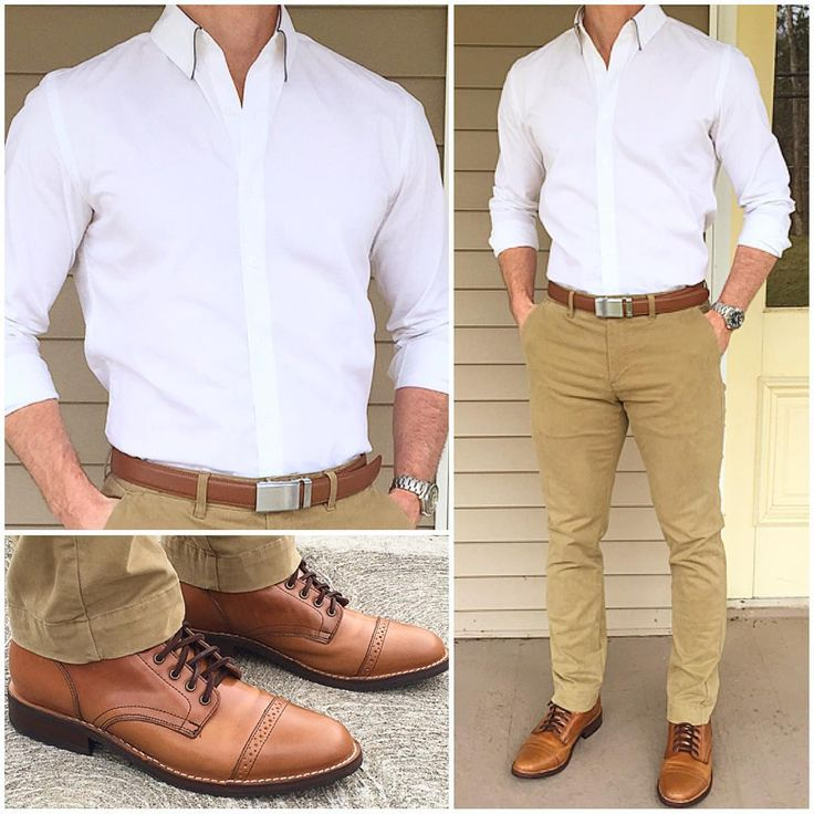 "14.8k Likes, 268 Comments - Chris Mehan (@chrismehan) on Instagram: ""Back to Work I went with a classic look today with a crisp white dress shirt, tan pants, and…"""