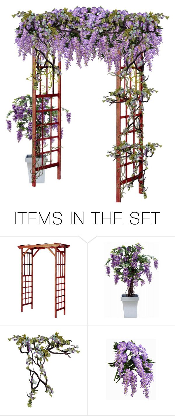 """Wisteria Trellis"" by brooklynbeatz ❤ liked on Polyvore featuring art"
