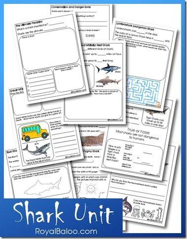 Free Shark Unit Study Printables