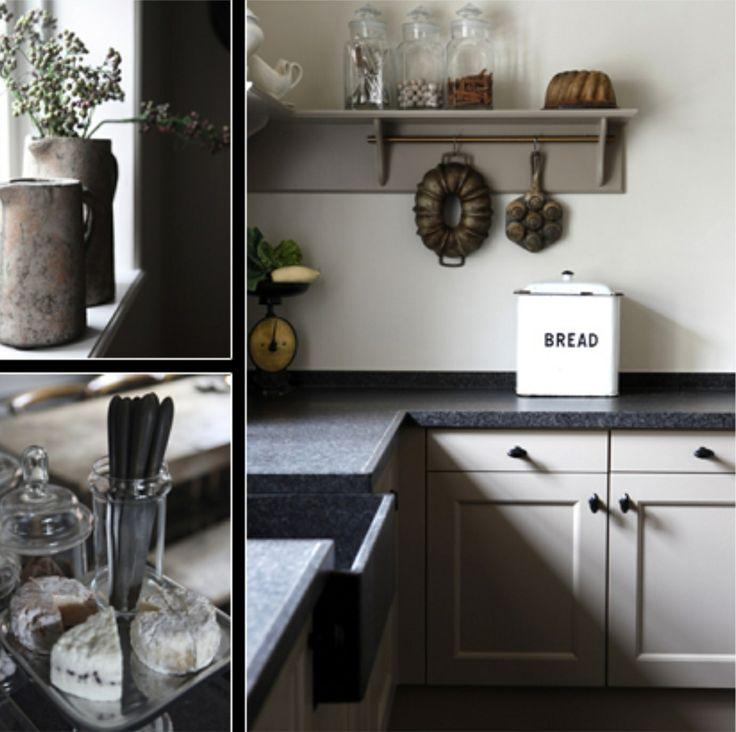 25 beste afbeeldingen over keuken ideeen op pinterest ramen rustiek modern en teksten - Keuken rustieke grijze ...