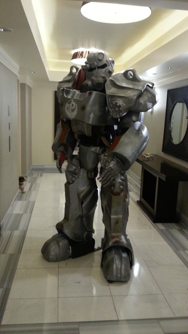 So I 3d Printed a full set of wearable T-60 Power Armor from Fallout 4