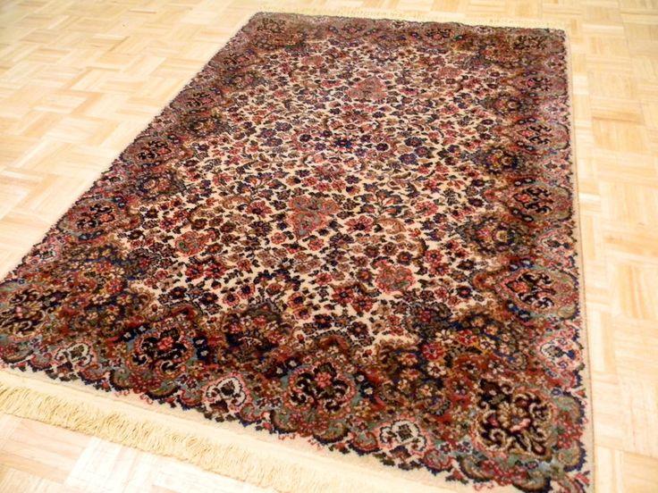 4 3x6 Karastan Vintage Floral Kirman 700 742 100 Wool