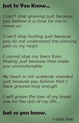 Grief is the never ending battle I deal with everyday. Some people will never understand